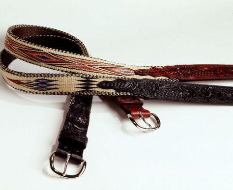 belts | Hitched Horsehair Belt | Western belt buckles, Belts