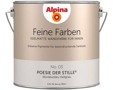 Alpina Feine Farbe No 03 Poesie Der Stille Edelmatt 2 5 Liter Kaufen Bei Obi Feine Farben Wandfarbe Alpina Farben