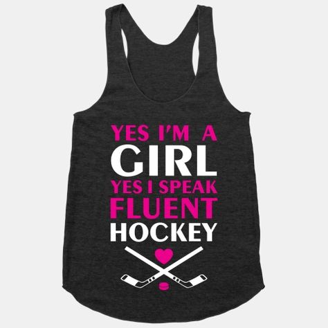You Had Me At Hockey White Adult Tank Top
