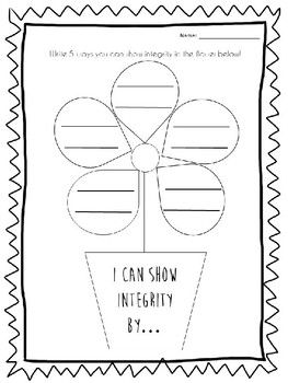 Integrity Flower Activity The Empty Pot Activity Bible Lessons For Kids Writing Activities Teaching Growth Mindset