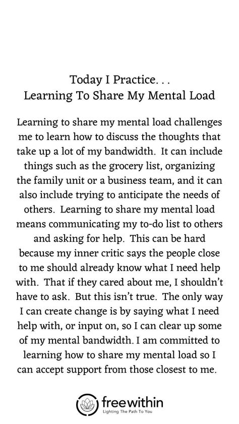 "Have you found that #affirmations don't really work for you? I had the same challenge. Try this #lifestrategy instead; it's called ""I Practice"".  Practicing something helps you build #strength and #resilience and long-lasting #mindhabits. This week's life strategy is ""Learning To Share Your Mental Load"".   #createjoy #gratitude #aligned #sundayspirituality #sundayservice #seva #family #momlife #parentingtips #consciousparenting #mentalload"
