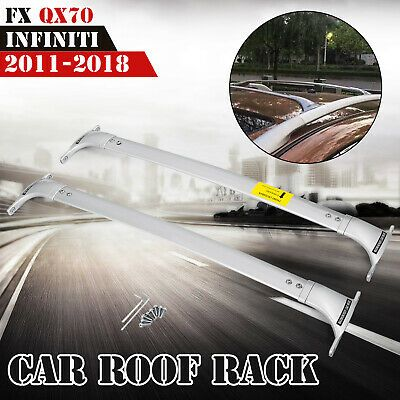 Sponsored Ebay Silver Car Roof Rack Fit For Infiniti Fx Qx70 2011 2018 Top Cross Bar Set Car Roof Racks