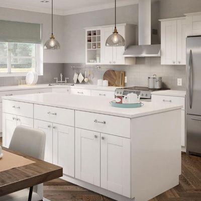 44+ Home depot hampton bay white shaker cabinets custom