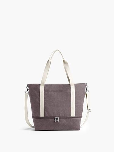 6b529e54be5 The Catalina Deluxe Tote - Washed Canvas - Dove Grey in 2019 | Bags ...