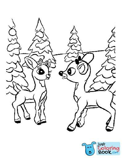 Coloring Coloring Reindeer Sheet Cartoon Pages Outstanding Inside Cartoon Reindeer Coloring Pages