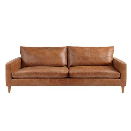 John Lewis Partners Bailey Grand 4 Seater Leather Sofa Dark Leg Sellvagio Cognac At John Lewis Partners Small Leather Sofa Leather Sofa Bed 3 Seater Leather Sofa