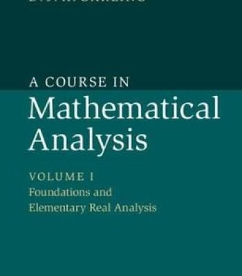 A Course In Mathematical Analysis Pdf Mathematical Analysis Advanced Mathematics Studying Math