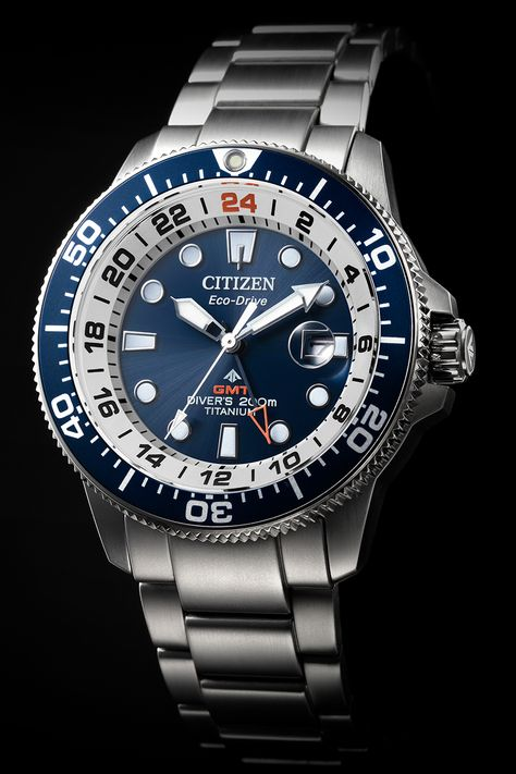 Citizen BJ7111-86L Promaster Diver's Eco Drive Super Titanio GMT
