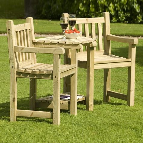 bdfeed356acf Forest Rosedene 8 Seater Wooden Garden Table and Chairs Dining Set   Buy  Sheds Direct   Benches   Wooden garden table, Wooden garden furniture, Garden  table ...