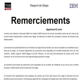 Remerciement Rapport De Stage Pdf Remerciement Rapport Modele De Remerciement Exemple De Rapport