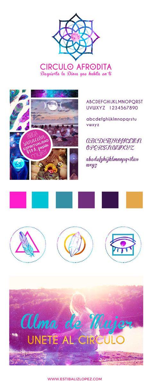 diseño de branding y logo de circulo afrodita por estibaliz lopez