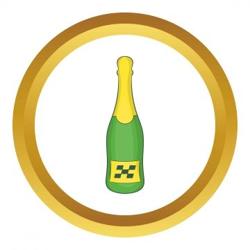 Icon Champagne Bottles Vector Icons Free Print Design Template