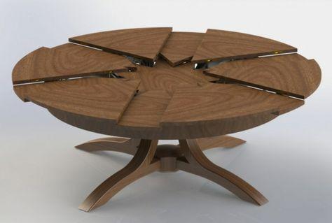 La Table Ronde Extensible Idees Pratiques Pour Votre Ameublement Archzine Fr Table Ronde Extensible Salle A Manger Table Ronde Table Ovale Bois