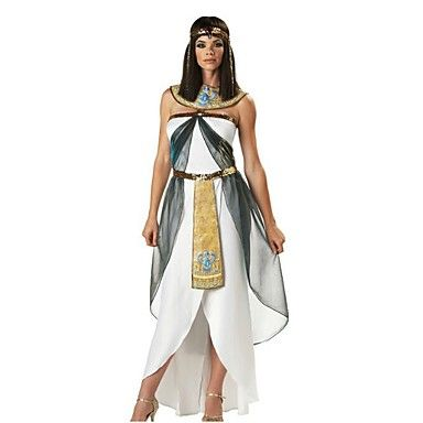 Dress for your next party or enjoy Halloween fun as the Queen of the Nile Adult Egyptian Cleopatra Costume.