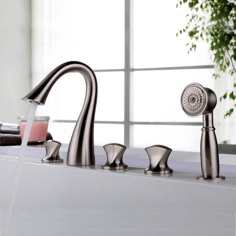 床置きシャワー水栓 床立ち上げ式浴槽蛇口 バス水栓 冷熱混合栓 ハンド