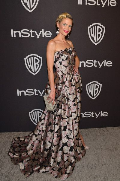 Jaime King attends the 2019 InStyle and Warner Bros. 76th Annual Golden Globe Awards Post-Party at The Beverly Hilton Hotel.