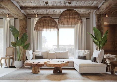 Detailed instructions and inspiration for the design of a rustic living room