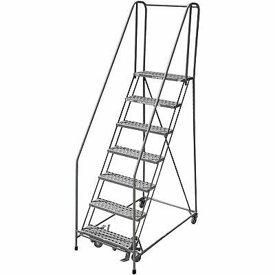 Cotterman Rolling Ladder 80in Max Height 1008r2632a1 Ebay In 2020 Rolling Ladder Ladder Expanded Metal