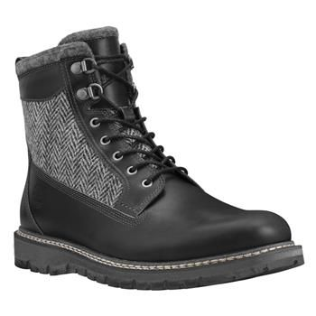 Timberland - Boots Britton Hill 6-inch with Warm Lined Homme - Noir - Tige et doublure en laine Harris Tweed