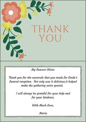 sympathy thank you notes to coworkers