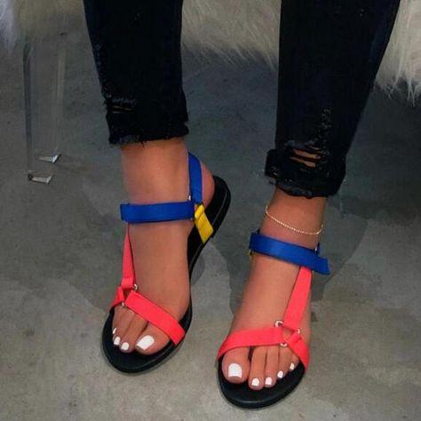Low Heel Shoes, Low Heels, Shoes Heels, Cute Sandals, Ankle Strap Sandals, Summer Sandals, Flat Sandals, Leopard Print Sandals, Aesthetic Shoes