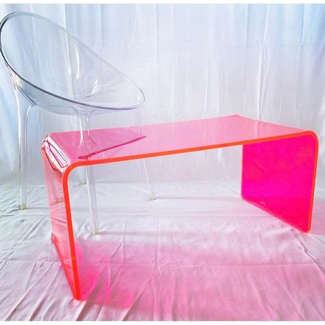 Neon Room, Dinning Room Tables, Neon Design, Acrylic Table, Pink Table, Bed Wall, Room Interior Design, Fashion Room, Table Furniture