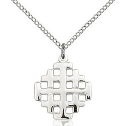 Sterling Silver Jerusalem Cross Pendant | The Catholic Company