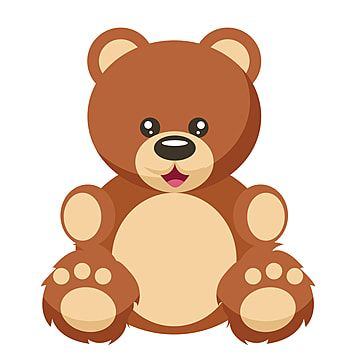 Bear Teddy Vector Cartoon Illustration Isolated Character Animal Cute Brown Drawing White Mammal Design Teddy Bear Cartoon Teddy Bear Clipart Teddy Bear Images