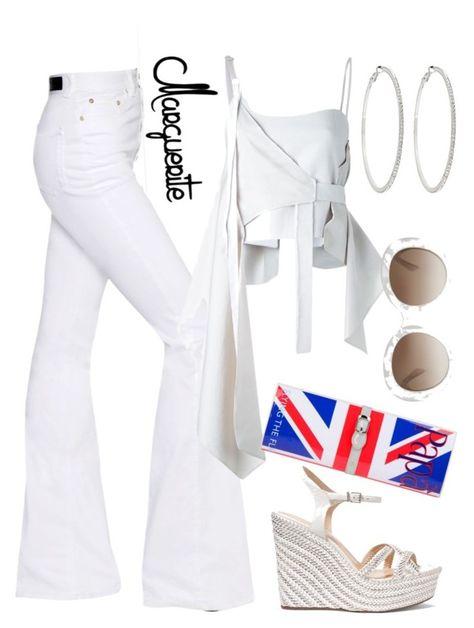 Summer Whine Down by margueritela on Polyvore featuring polyvore fashion style Anne Sofie Madsen Sonia Rykiel Schutz Papà Razzi Roberta Chiarella Gucci clothing