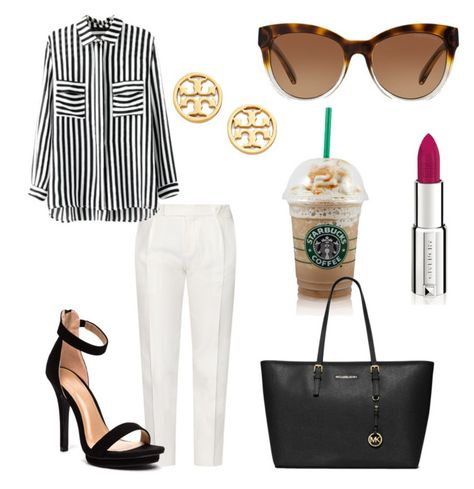 Work Outfit by bellsandbows on Polyvore featuring Tod's, MICHAEL Michael Kors, Tory Burch, Michael Kors and Givenchy