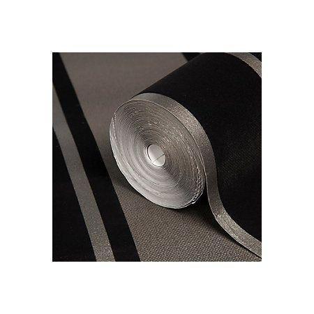 Statement Laquita Black Striped Wallpaper Departments Diy At B Q Black Stripes Wallpaper Striped Wallpaper Black Stripes