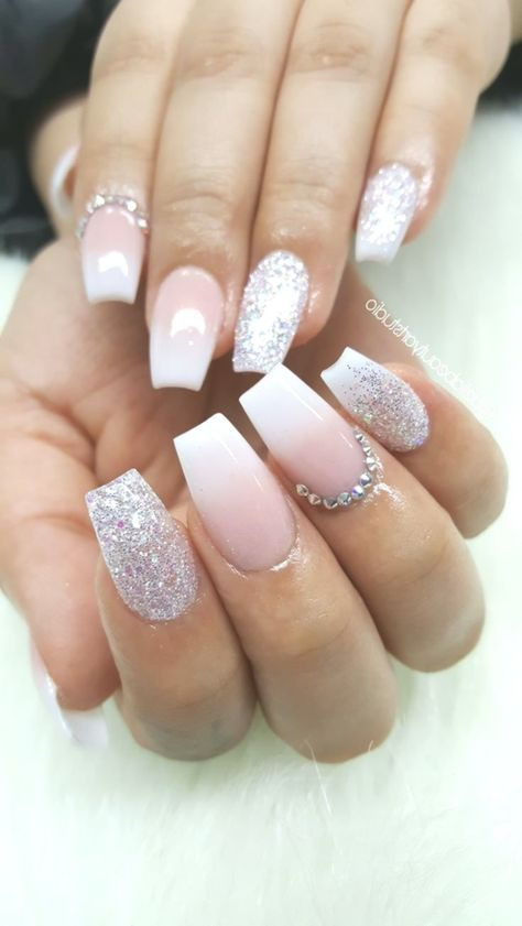 Coffin shaped acrylic nails   New ideas blondeombre ac #acrylic #blondeombre #coffin #ideas #nails #shaped