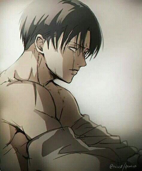 Crying Attack On Titan Levi Levi Ackerman Attack On Titan Anime