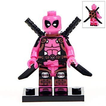 LEGO PINK DEADPOOL WITH HIS PINK TEDDY BEAR
