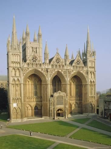 Photographic Print: The Cathedral, Peterborough Poster by Philip Craven : 24x18in