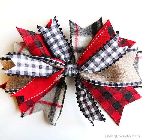 Diy Hair Bows, Diy Bow, Diy Ribbon, Ribbon Crafts, Ribbon Bows, Wreath Bows, Ribbons, Christmas Bows, Christmas Crafts
