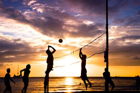 Beach volleyball = the perfect way to spend a Weds Night in the summer in Rockaway Beach.