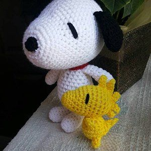 Free crochet pattern : Snoopy Amigurumi (With images) | Crochet ... | 300x300