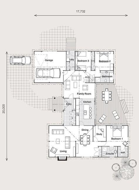 31 best plans maisons images on Pinterest Mansions, Contemporary - plan maison demi sous sol