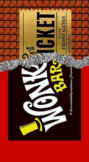 Wonkas Golden Ticket Chocolate Poster By K L D Candy