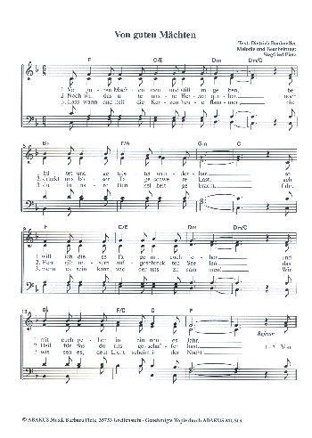 Von Guten Machten Wunderbar Geborgen Fur Gem Chor A Cappella Chorpartitur Notenlager Notenversand Noten Online Kaufen A Cappella Noten Klavier Noten