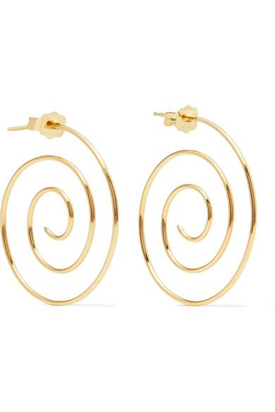 Beaufille Spiral 10 Karat Gold Earrings Earrings Jewelry Gold Earrings