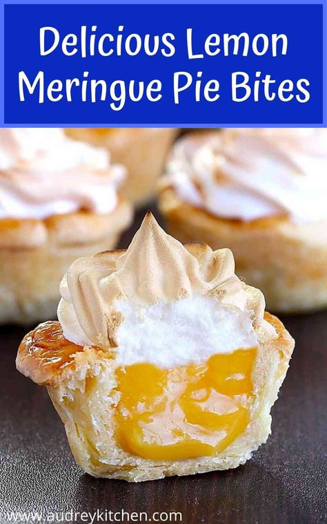 Delicious Lemon Meringue Pie Bites - Audrey's Kitchen