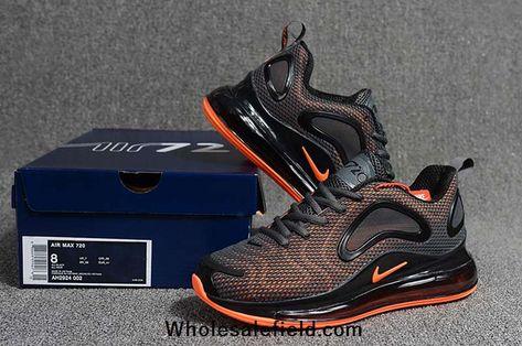 Nike Air Max 720 KPU Carbon Gray Orange Men Shoes | Nike air