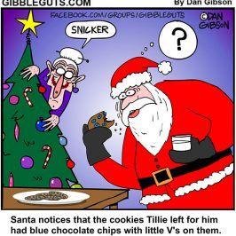 Hanging Christmas Decorations Cartoon From Gibbleguts Com Christmas Comics Christmas Hanging Decorations Santa