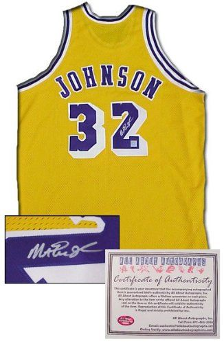 Magic Johnson Autographed Hand Signed Authentic Style Los Angeles Lakers  Gold Jersey Magic Johnson Autographed 4e299130b