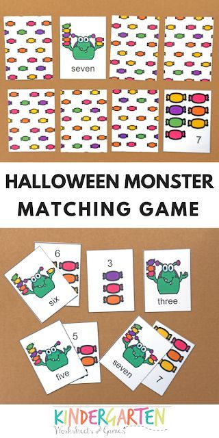 Free Monster Memory Game Counting 1 10 Printable Math Games