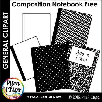 Composition Notebook Clipart Clip Art Freebie Black And White Clip Art Freebies Clip Art Composition Notebook