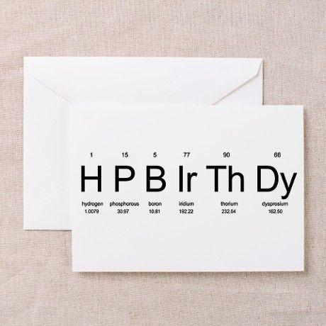Periodic Table Birthday Cards (Pk of 10) on CafePress.com