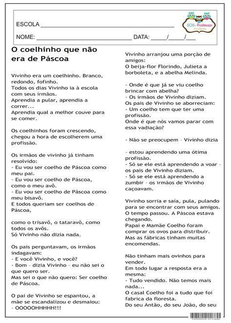 O Coelhinho Que Nao Era De Pascoa Texto Da Pascoa Portugues